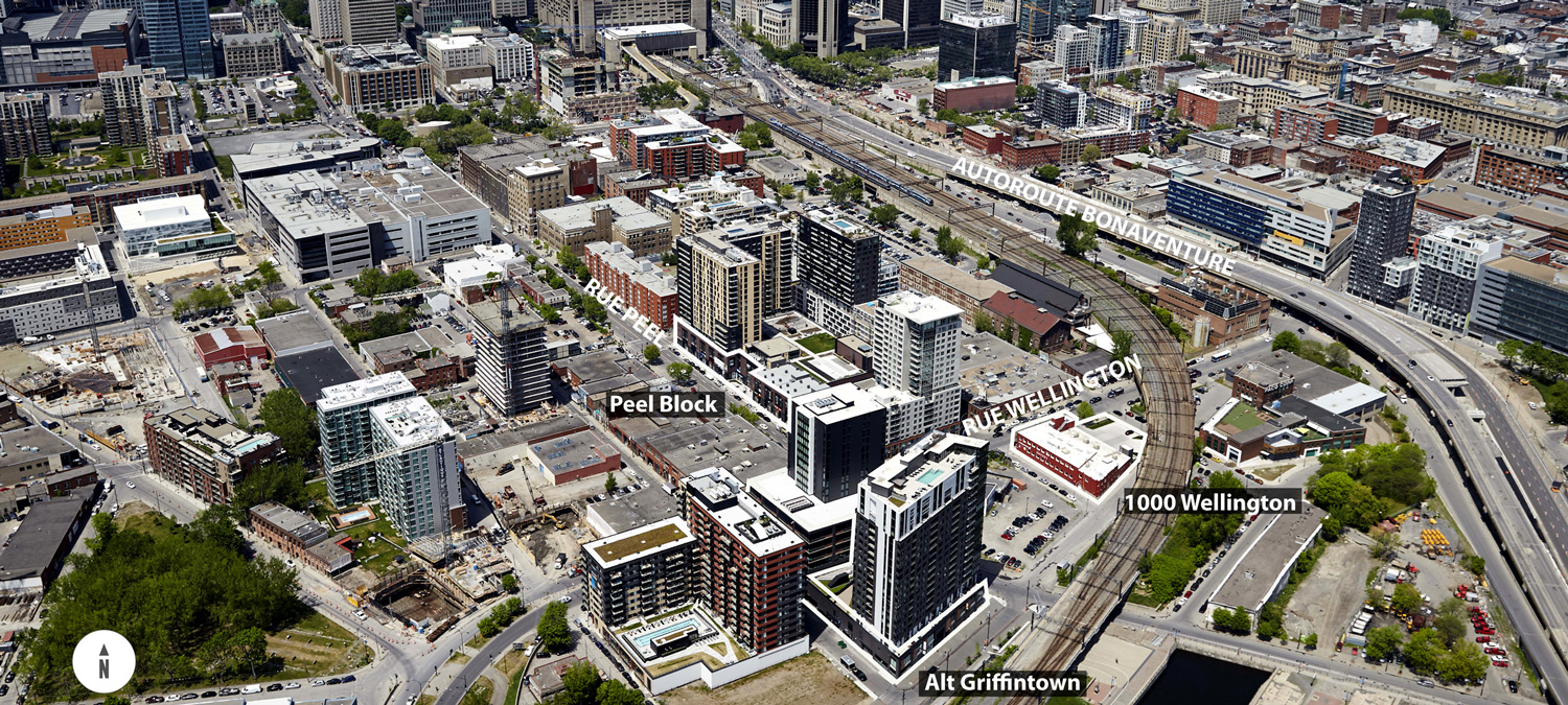 Aerial of Griffintown