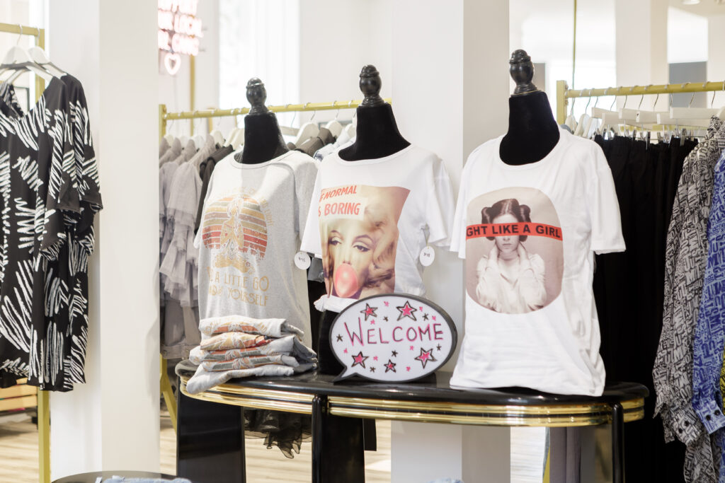 three graphic t-shirts